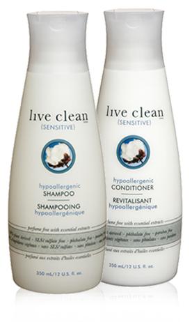 Shampooing et après-shampooing Sensite de Live Clean